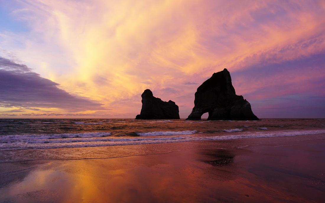 Wharariki Beach, Nový Zéland